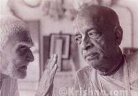 """Srila Prabhupada Sepia Photo, Listening, 5""""x7"""""""