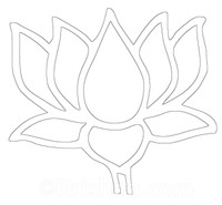 Lotus Auto Window Decal, White