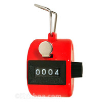 Hand Tally Counter, PVC, Red