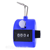 Hand Tally Counter, PVC, Blue