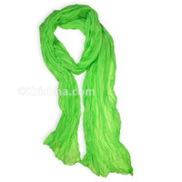 Cotton Voile Scarf, Spring Green