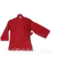 Side-Tie Baby Kurta, Robin Red