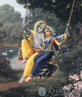 "Radha & Krishna the Divine Couple Photo Print, 5""X7"""