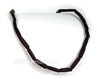 Black Elongated Tulasi Neck Beads, 48""