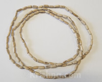 Natural Oblong Tulasi Neck Beads, 48""