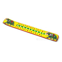 Elephant Wooden Incense Burners, Yellow & Red