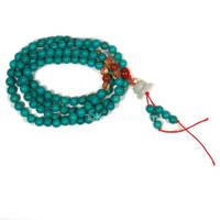 Tibetan Style Japa Mala Beads, Blue Turquoise