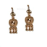 Gopi Seva Earrings, 18k Gold Plate