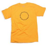 Circular Mantra T-Shirt, Gold
