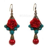 Satyabhama Rose Earrings