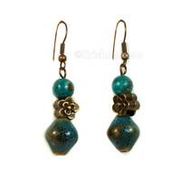 Venu-Rati Earrings, Blue