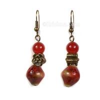 Venu-Rati Earrings, Red