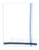 Cotton Dhoti, Blue Border
