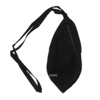 Medium Cotton Bead Bag  w/ Zipper, Black