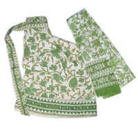 Cotton Wrap-Around Skirt, Green Garden