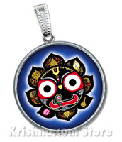 Jagannath Pendant, Black Lotus, Luminous, Large