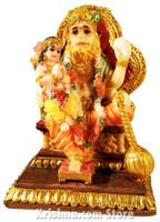 "Narasimhadeva with Prahlad Figurine,  5"""