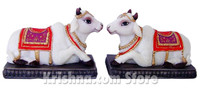 Surabhi Cow Pair Figurines. 2.5""
