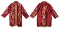 Long Silk Embroidered Sherwani, Magenta