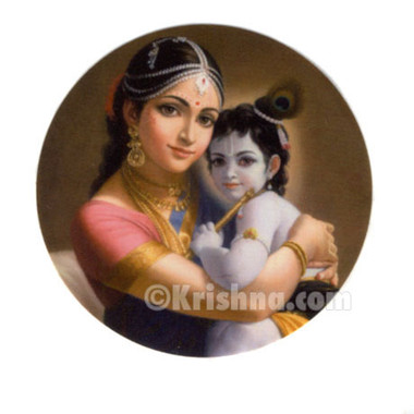 Mother yashoda baby krishna stickers 10 pack