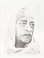 Srila Prabhupada, Serious, Lithograph