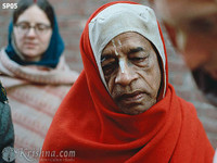 "Srila Prabhupada Photo, Red Chadar, 8""x10"""