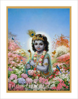 Krishna in the Vrindavan Forest Poster, Large