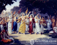"Lord Chaitanya's Nama Sankirtana, Photo Print, 8""X10"""