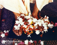 "Srila Prabhupada Photo, Lotus Feet, 5""x7"""