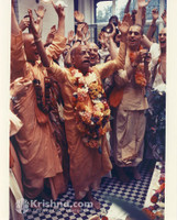 "Srila Prabhupada Photo, Manor, Deity Installation, 5""x7"""