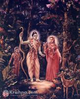 "Sita, Rama, Laksman in Forest Photo Print, 11""x14"""