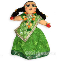 Sita Devi Doll, Green Sari