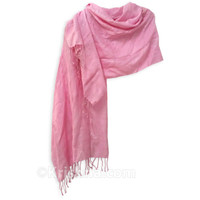 Silver Shimmering Scarf, Pink