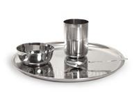 Stainless Steel Prasadam Plate Set