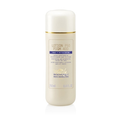 Lotion P50 PIGM 400 is an exfoliating and lightening lotion ideal for dull complexions with hyperpigmentation.  Lotion P50 PIGM 400 couples the benefits of Lotion P50 while acting on pigmentation marks and lightening the skin. Use twice daily after cleansing