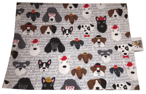 Classy Dogs Fabric Swatch (Pillow not stuffed)