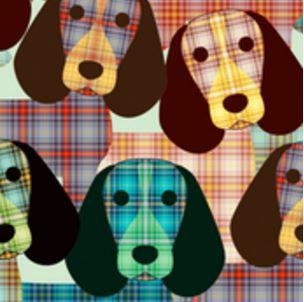 Beagles in Plaid