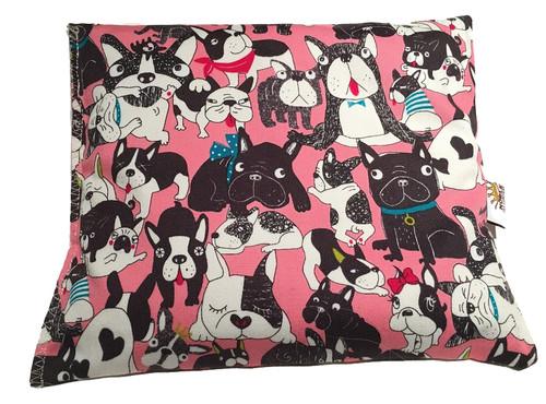 Boston Terriers in Pink