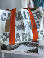Cavalier King Charles Reversible Tote made from Tyvek.  Add monogrammed named, to make it extra special!