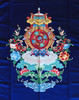 8 Auspicious Symbol / Tashi Delek Heavy Embroidered Door Curtain