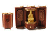 Wooden Gold Plated Kuanyin Traveling Altar