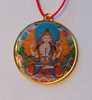 Deity with Mantra Enamel Pendant