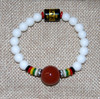 Conch bracelet with carnelian