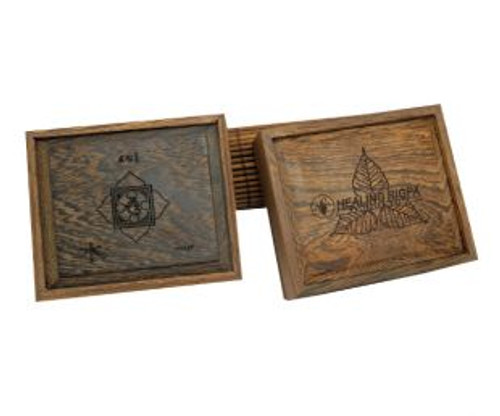 5 Elements wood Cover Coil Incense