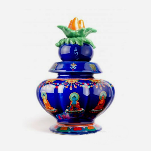 Medicine Buddha Ornate Treasure Vase