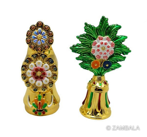Gold Plated Food & Flower Torma Set