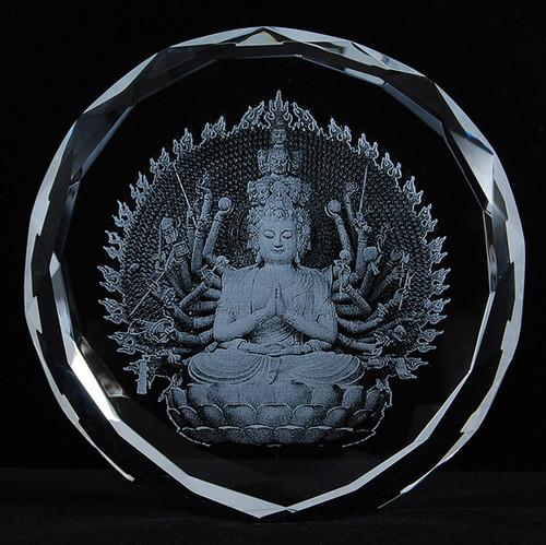 1000 Arm Avalokiteshvara Crystal Statue