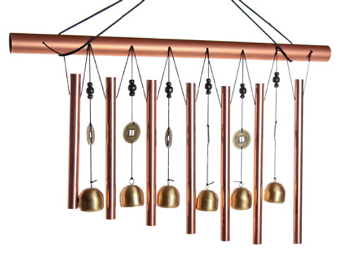 Horizontal 7 Rods 6 Bell Chime