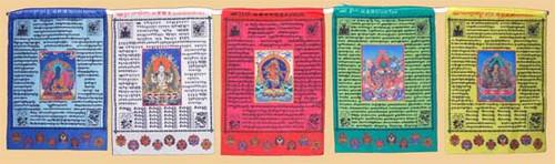 5 Deity Prayer Flag