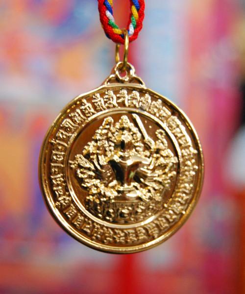 Cundi Mirror Pendant Gold Plated